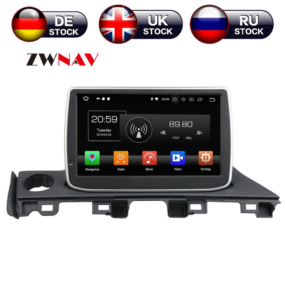 9 inch Android 8 Car DVD Player GPS navigation For Mazda 6 Atenza 2017 headunit multimedia player tape recorder