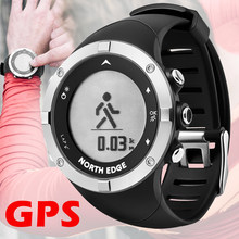 NORTH EDGE Men smart GPS watch Sport Digital wristwatch heart rate monitor bluetooth Outdoor Running Swimming Fitness Waterproof(China)