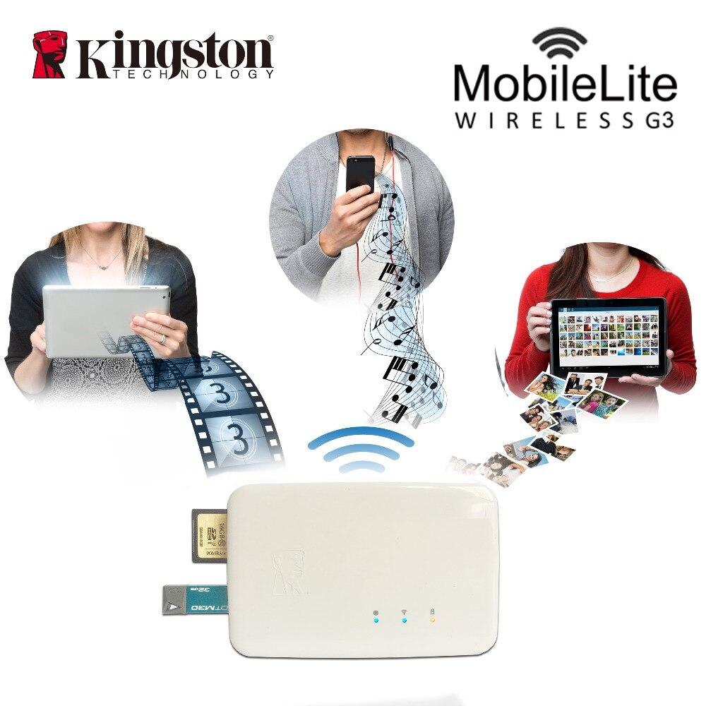 Lecteur de carte sans fil Kingston transmetteur wifi multifonction dispositif de partage de données sans fil il peut être utilisé comme powe de sauvegarde mobile - 2