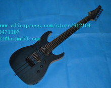 free shipping retail new 7-strings electric guitar with elm body across bridge music instrument F-1389+foam box