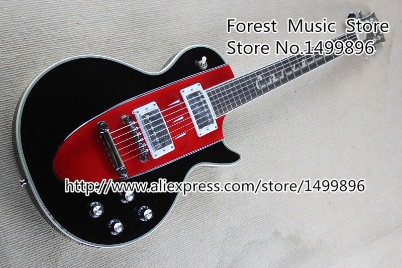 New Arrival 1960s Corvette LP Electric Guitar In Black China LP Guitars Lefty Available new arrival cnbald lp supreme electric guitar top quality lp guitar in deep brown 110609 page 2