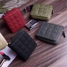 New Small Designer Slim Women Red Wallet Thin Zipper Ladies PU Leather Coin Purses Female Purse Mini Clutch Cheap Womens Wallets