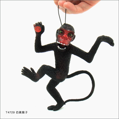 15cm Trick toy Practical Jokes Toys Simulation Monkeys Fool Day Prank Toys Mischievous Small Animals Rubber Monkey Random Color
