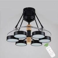 Led Modern Ceiling Fan Lamp Pendant Remote Control Hanging Light ventilador de teto ceiling fans with lights For Dinning Room