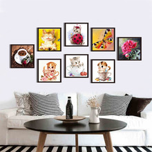 DIY 5D Diamonds Embroidery Animals Round Diamond Painting Cross Stitch 3D Diamond Painting Kits Diamond Mosaic Home Decoration