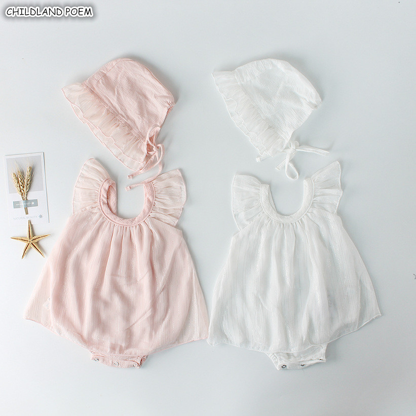 Baby   Rompers   Summer 2019 Baby Girl Clothes Cotton Ruffle Newborn Baby Clothes Infant Baby Girls   Romper   Girl Jumpsuit With Hat