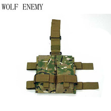 Taktis Molle Ganda M4 5.56mm Mag Magazine Pouch Bag Untuk Airsoft Paintball Gugurkan Leg Panel Utilitas Pouch Bag(China)