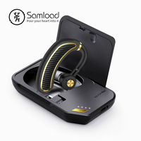 Samload Drive Bluetooth Headset in ear Wireless Earbud Neckband 20 Hours Long Talk time with Charge box For iOS & Android phone