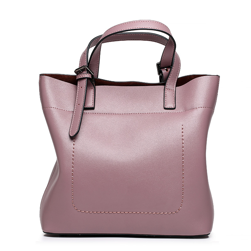 The new style of cow leather women's bags of European and American fashion hand bill of lading bag 100% Genuine leather ladies european and american 2017 new lychee grain 100