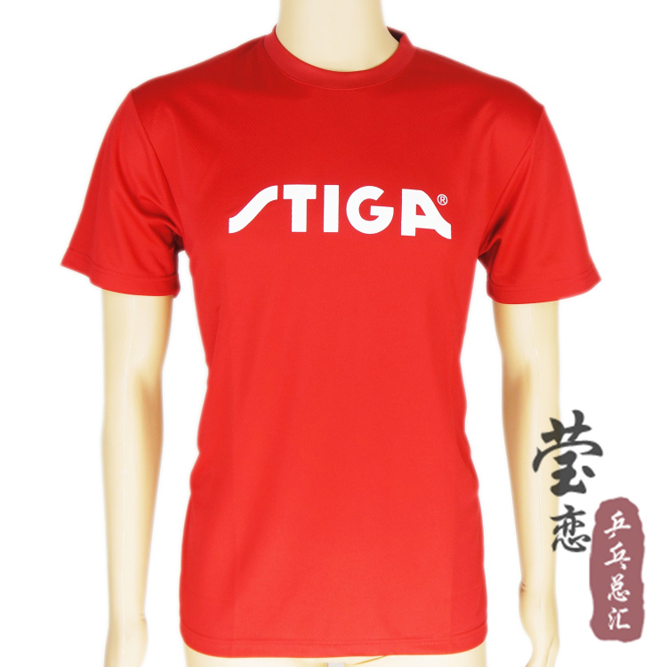 Original Stiga Table Tennis Short Sleeve Blouse Round Collar T Shirt Table Tennis Rackets Racquets Sports For Pingpong Paddles