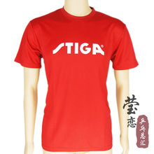 Original stiga table tennis short sleeve blouse Round collar t shirt table tennis rackets racquets sports for pingpong paddles(China)