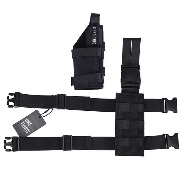 OneTigris Tactical Molle Drop Leg Platform & Handgun Pistol Holster Airsoft Paintball Right Handed Holster 5