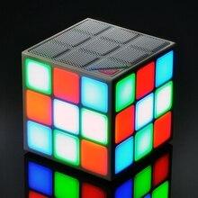 Рождественский подарок мини 36LED для куба цветные bluetooth-колонки беспроводной громкий динамик портативный мигающий свет сабвуфер системы голосового управления