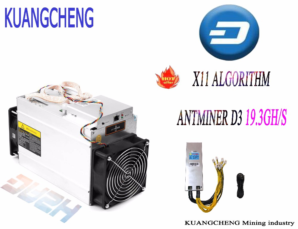 DASH Miner ANTMINER D3 19.3GH/s ( With PSU-1800W) BITMAIN X11 Dash Mining Asic Miner Machine Can Miner BTC On Nicehash(China)