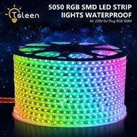 TSLEEN Бесплатная доставка! Бесплатная сократить RGB Светодиодные ленты свет Водонепроницаемый 60 Светодиодный S/M 20 м 25 м 30 м 40 м 50 м 100 М 5050 лампы