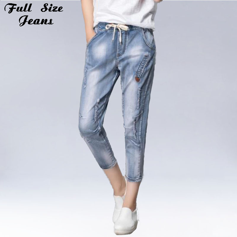 Online Get Cheap Denim Capris Elastic -Aliexpress.com | Alibaba Group