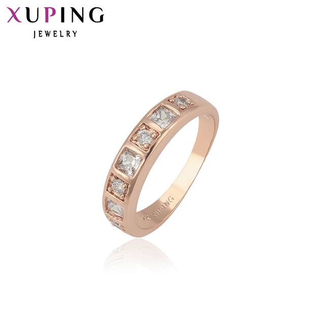 Xuping Fashion Ring Special Design Rings for Women High Quality Gold Color Plated Jewelry Christmas Gift 13413