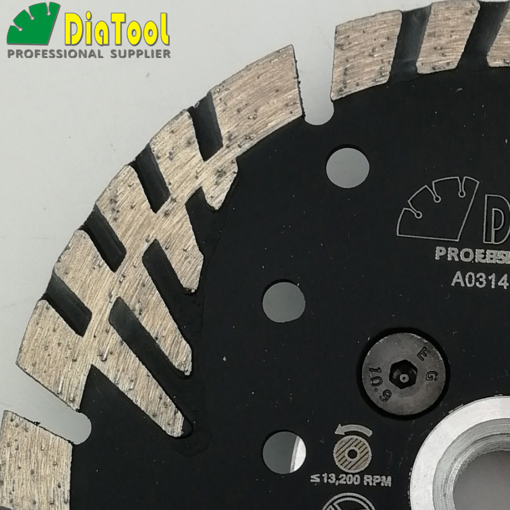 Image 4 - DIATOOL Hot pressed Diamond turbo Blade with Slant Triangle teeth Diamond cutting disc for Multi puprose Grinding wheel-in Saw Blades from Tools