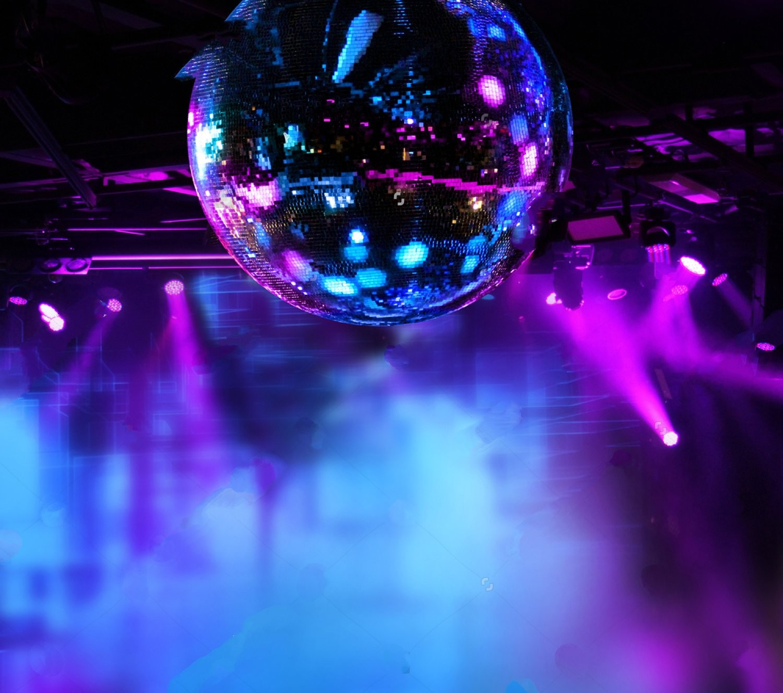 Colorful disco mirror ball led dj lights night club - Club lights wallpaper ...