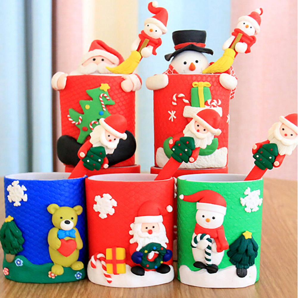 Professional Sale Top Christmas Ornament Pen Vase Pencil Container Party Xmas Table Desk Gift Decor Office & School Supplies