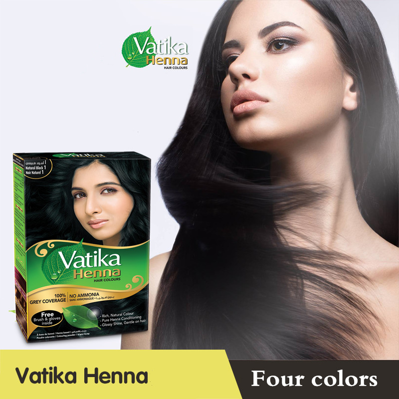 US $20.39 15% OFF|Vatika High quality Pure Natural Henna Hair Dye/ Henna  Eyebrow Tint Kit, Ideal for Hair, Beard & Eyebrows 30 minute fast dye-in  Hair ...
