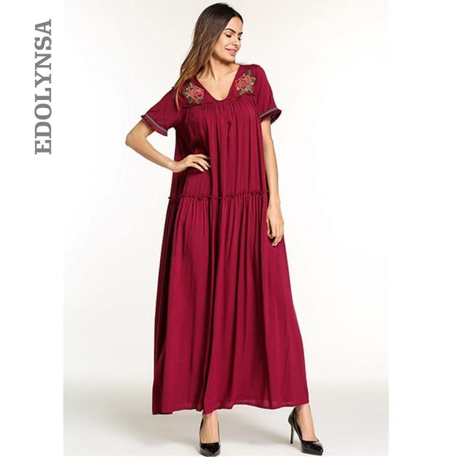 US $19.98 40% OFF|Red Ukraine Robe Women Dress Plus Size Vintage Women  Clothes Trending Style Short Sleeve Cotton Dress Vetement Femme 2019  D672-in ...