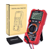 NEWACALOX NCV Digital Multimeter 6000 counts Auto Multi Meter Ohm Tester Meter Voltmeter Ammeter Overload Protection with Probe
