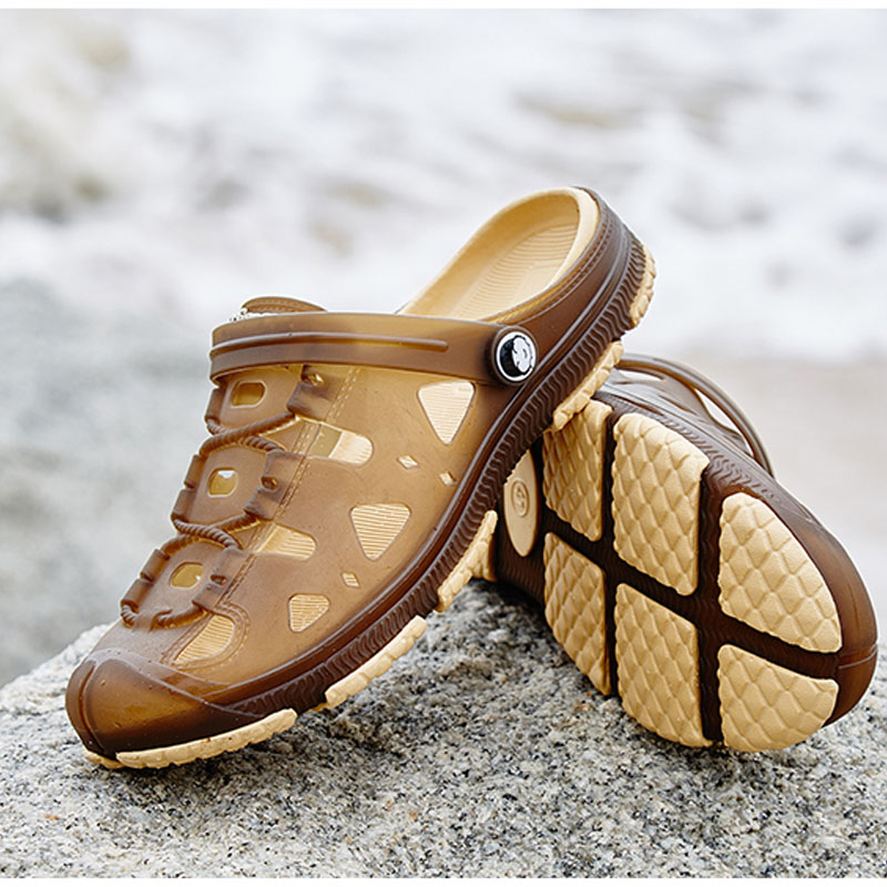 Fashion Men font b Slippers b font Breathable Beach Summer Sandals Croc Male Shoes Hollow Out