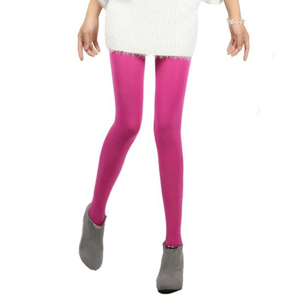 Buy Spring Autumn Winter Pantyhose Kawaii Cute Tights 120D Velvet Seamless Collant Candy Color Opaque Collant Women Tights