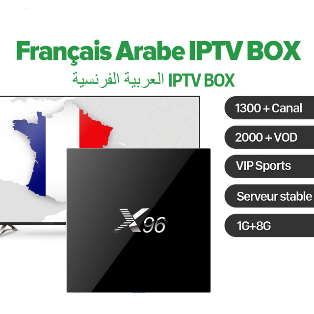 X96 Android 6.0 Amlogic S905X Smart TV Box 1GB 8GB /2GB 16GB with French Belgium Arabic Benelux IPTV Set Top Box 1600+ Channels hot x96 tv box 2gb 16gb s905x quad core 2 4ghz wifi hdmi smart set top box with iudtv iptv abonnement french arabic iptv top box