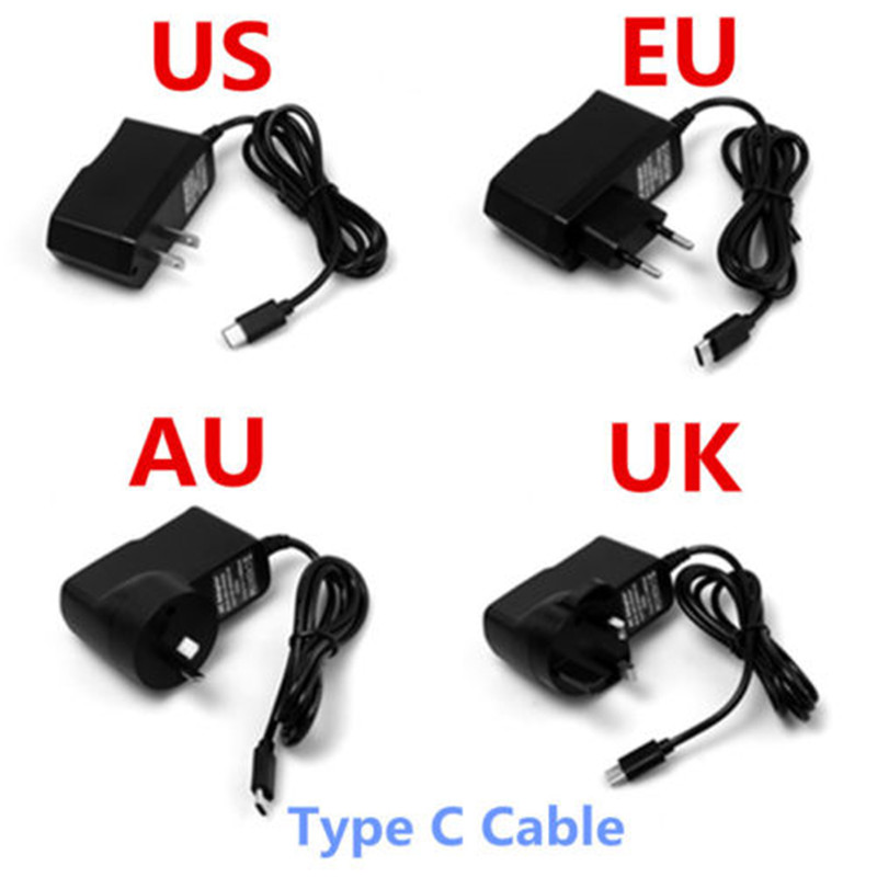 Notow 5v 2a Uk Us Au Eu Plug Type C Wall Charging