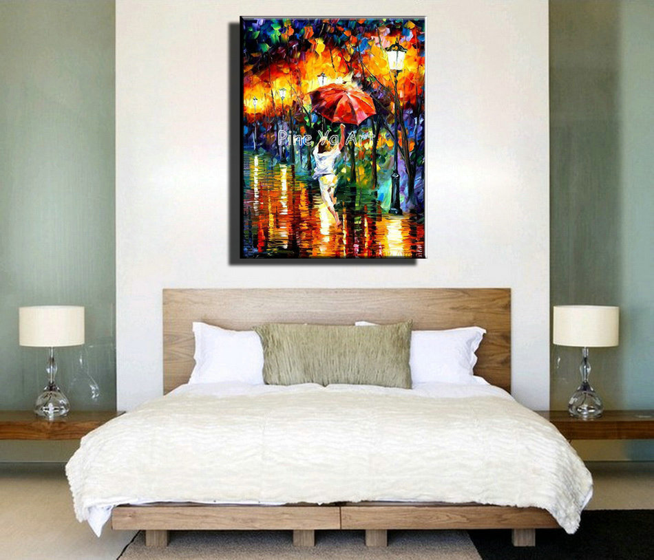 Abstract Modern canvas wall art decorated kitchen font b Knife b font handmade oil painting on