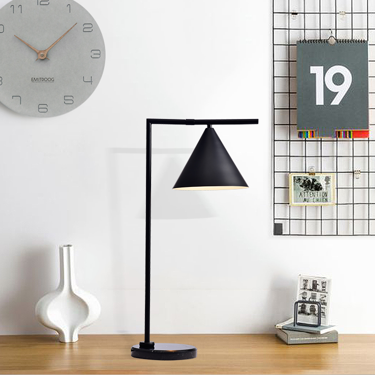 Lampplus Nordic Modern Simple Luxury Swing Table lamp Desk lamp for bedroom living room hotel room iron painted marble base