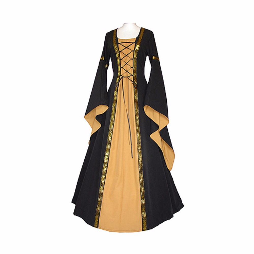 Women's Dress Victoria Medieval Ball Gown Vintage Medieval ...