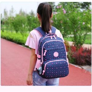 Image 5 - 3 ピース/セット高品質スクールバッグファッションスクールバックパックティーンエイジャーの女の子のためランドセル子供のバックパック mochila アブラソコムツ