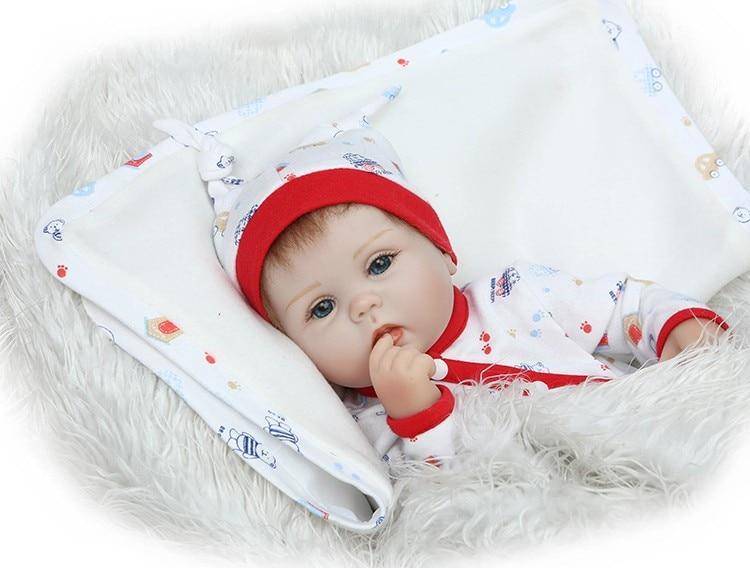 40cm Silicone reborn baby doll toy lifelike for kid girls brinquedos soft vinyl newborn babies birthday gift collectable doll