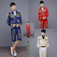 Men S European Court Dresses Stage Performance Men S Bullfighting Dress Up Spanish Matador Clothing