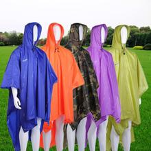 3 in 1 Multifunctional Raincoat Outdoor Travel Rain Poncho Backpack Cover Waterproof Climbing Camping Tent Mat Awning