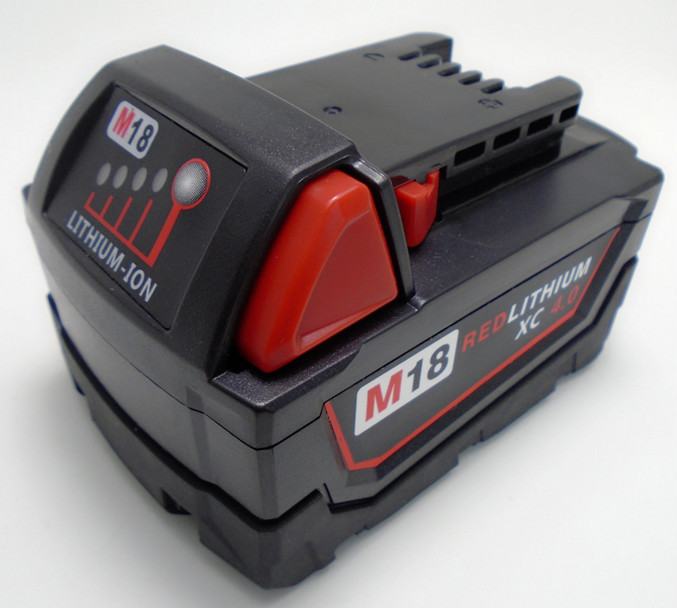 High quality LED 18V 4.0 Li-Ion Replacement Power Tool Battery for Milwaukee M18 XC 48-11-1815 M18B2 M18B4 M18BX Li18 new replacement power tool battery chargers for bosch 14 4v 18v li ion lithium battery high quality