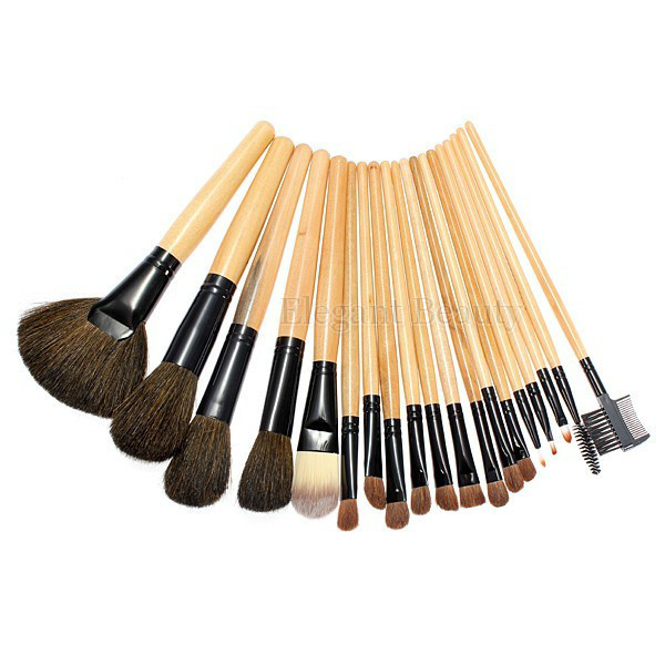 wholesale best selling Professional make-up <font><b>brush</b></font> <font><b>set</b></font> <font><b>19pcs</b></font> <font><b>makeup</b></font> cosmetics <font><b>brush</b></font> with leather pouch 5 <font><b>sets</b></font>/lot free shipping image