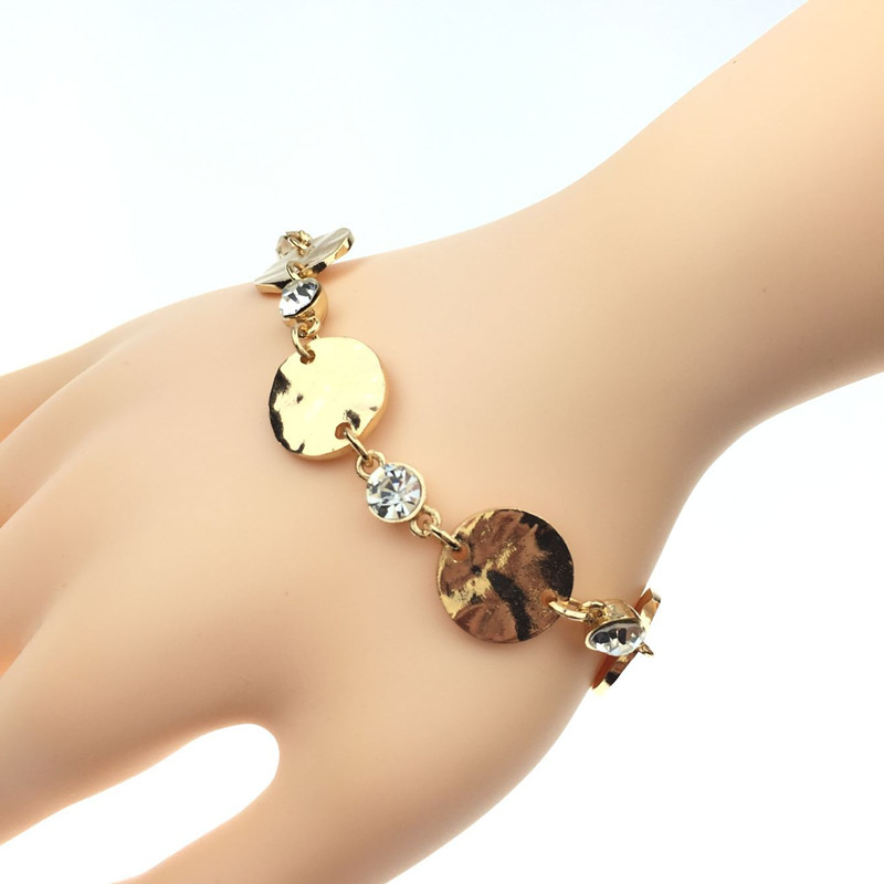 Free shipping New Fashion Hot Sell Women/Girl's Yellow Gold Filled Heart Bracelet Bangle Gift Jewelry