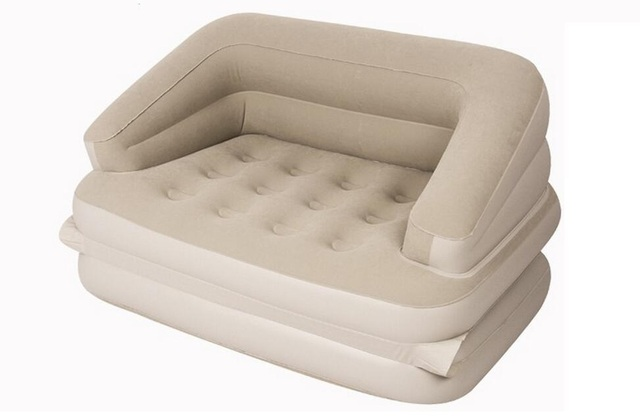 Flocking Pvc 5 In 1 Outdoor L Lazy Inflatable Sofa Bed Apartment Folding Multi