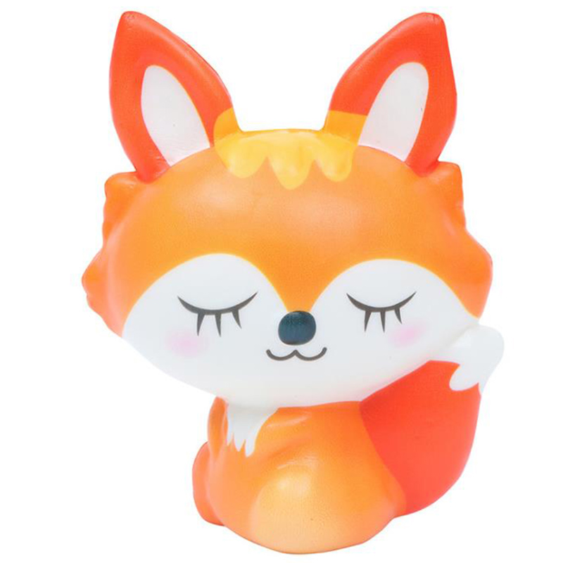 Jumbo Cute Fox Squishies Creative Slow Rising Soft Bread Cake Scented Squeeze Toys Stress Relief Kid Baby Fun Gift Toy10*11CM