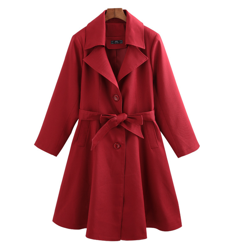 Autumn Winter Plus Size 10xl 9xl 8xl Long   Trench   Coat For Women 2018 Casual Coat Women Overcoat Office Lady Big Size Clothing