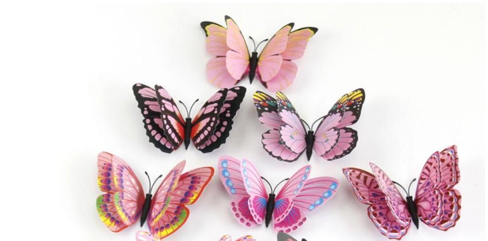 12шт. Декоративные бабочки фото