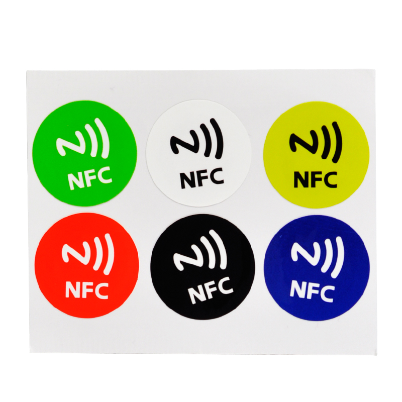 Free Shipping 6PCs NFC Smart Tags Sticker Chip Rfid Adhesive Label Alarm Clock Control For Samsung iPhone 1000pcs larger capacity nfc tags rfid label classic 1k f08 nfc sticker for galaxy s3 nokia and most andriod nfc phone 768 bytes