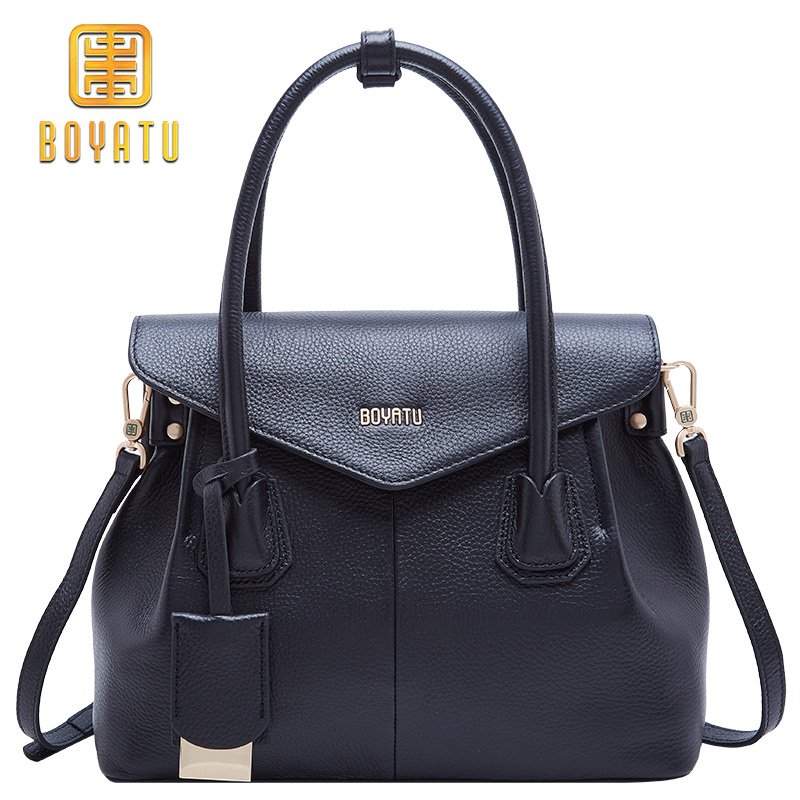 97be4633d0e3 Luxury Genuine Leather Shoulder Bag Female Fashion Crossbody Handbags Women  Bags Designer Brand Top-handle Party Purse 2018