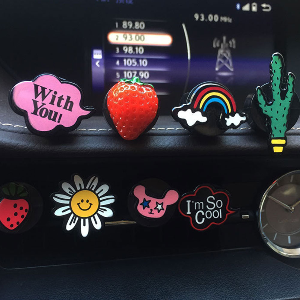 HOT Cartoon Air Freshener Car Styliing Car Interior Vent Outlet Perfume Fragrance Clip Cartoon Air Freshener Vent Clip Supplies