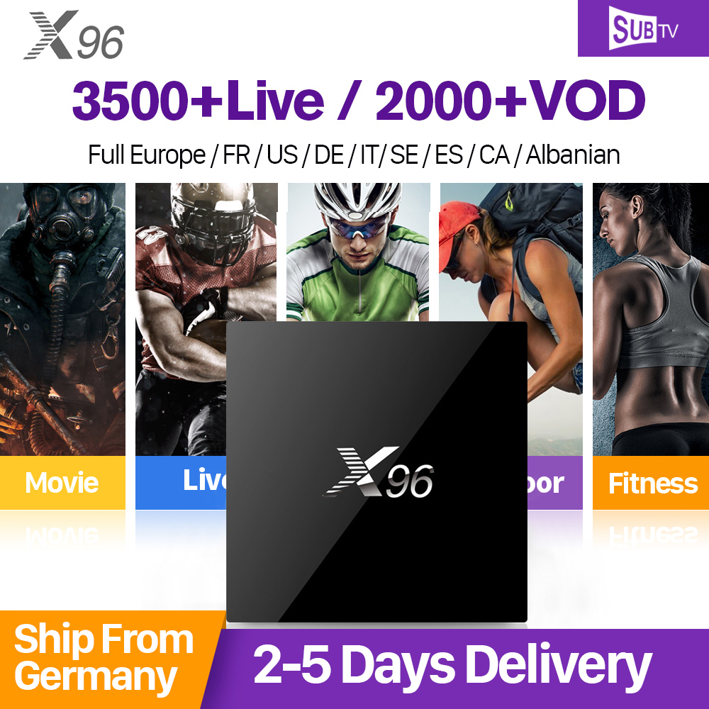 X96 Android 6.0 Smart TV Box 4K Amlogic S905X 2GB 16GB 2.4GHz WiFi HDMI 2.0 SUBTV Code IPTV Subscription French Arabic IPTV Box hot x96 tv box 2gb 16gb s905x quad core 2 4ghz wifi hdmi smart set top box with iudtv iptv abonnement french arabic iptv top box