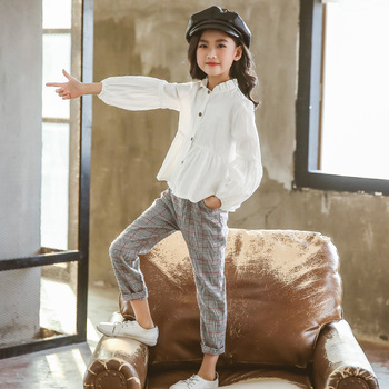Girls Clothing Sets Suit For Girls Outfits Tops Blouse + Pants Stylish Gentle Teenager Girl Clothes Teen Korean Spring Fashion 4